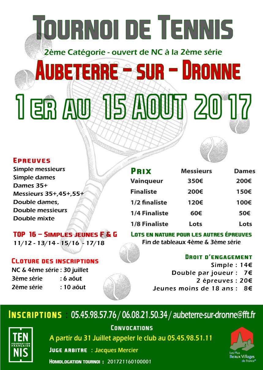 tornoi tennis Aubeterre
