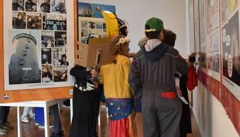 Les écoliers de l'école de Saint Romain en visite à l'office de tourisme.
