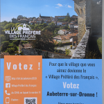 AUBETERRE VILLAGE PRÉFÉRÉ DES FRANCAIS